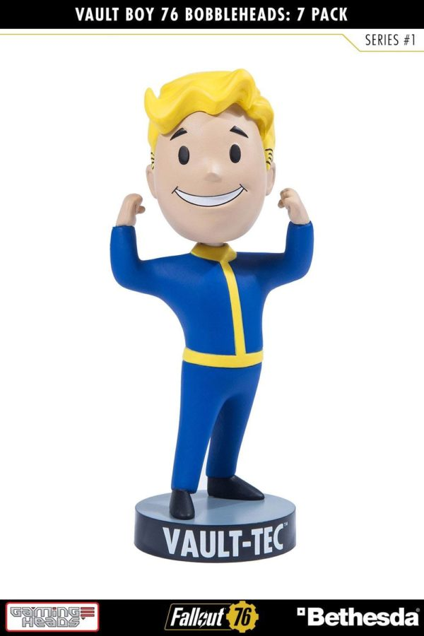 VAULT BOYS PACK 7 FIGURINES BOBBLE HEADS FALLOUT 76 SERIE 1 GAMING HEADS 13 CM (8) 5060254182650 kingdom-figurine.fr