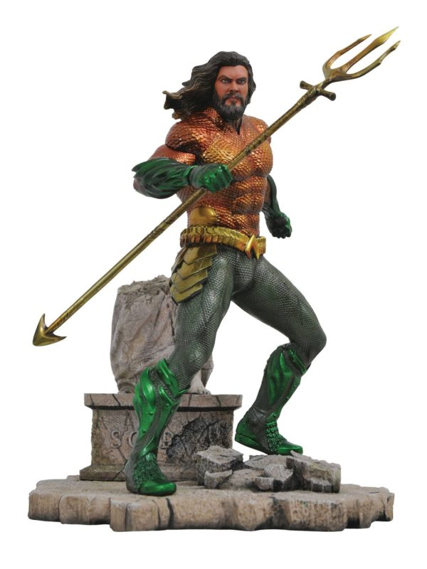 AQUAMAN STATUE DC MOVIE GALLERY DIAMOND SELECT 23 CM (1bis) 699788829295 kingdom-figurine.fr