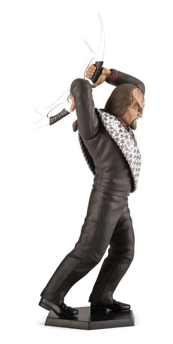 COMMANDER WORF FIGURINE STAR TREK DEEP SPACE NINE LATINUM EDITION Qm 15 CM (3) 812095024010 kingdom-figurine.fr
