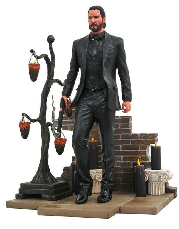 JOHN WICK STATUE JOHN WICK CHAPTER 2 GALLERY DIAMOND SELECT 23 CM (1bis) 699788830369 kingdom-figurine.fr