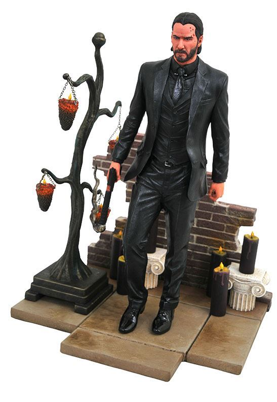 JOHN WICK STATUE JOHN WICK CHAPTER 2 GALLERY DIAMOND SELECT 23 CM (2) 699788830369 kingdom-figurine.fr