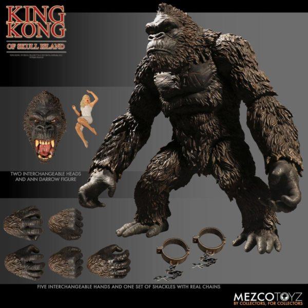 KING KONG FIGURINE KING KONG OF SKULL ISLAND MEZCO 18 CM (2) 696198101003 kingdom-figurine.fr