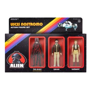ALIEN ReACTION PACK 3 FIGURINES BLOODY ALIEN, DALLAS & LAMBERT SUPER7 10 CM (1) 811169030261 kingdom-figurine.fr