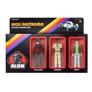 ALIEN ReACTION PACK 3 FIGURINES BRETT, PARKER & BLOODY XENOMORPH ALIEN SUPER7 10 CM (1) 811169030254 kingdom-figurine.fr