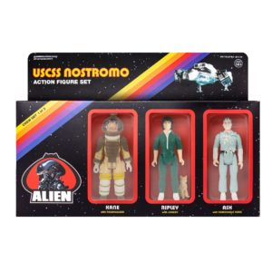 ALIEN ReACTION PACK 3 FIGURINES KEN, RIPLEY & ASH SUPER7 10 CM (2) 811169030247 kingdom-figurine.fr