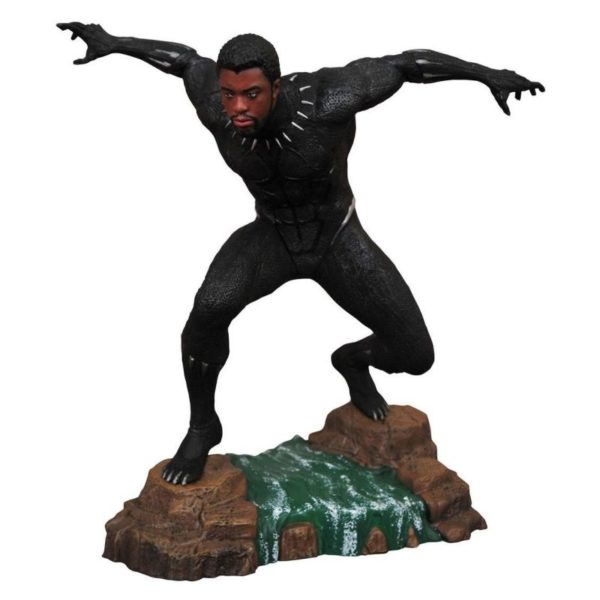 BLACK PANTHER UNMASKED STATUE MARVEL MOVIE GALLERY DIAMOND SELECT TOYS 23 CM (1) 699788830260 kingdom-figurine.fr