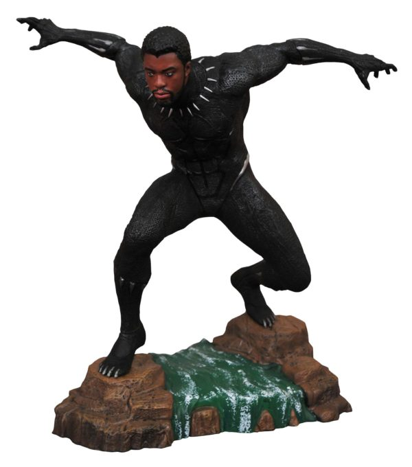 BLACK PANTHER UNMASKED STATUE MARVEL MOVIE GALLERY DIAMOND SELECT TOYS 23 CM (1bis) 699788830260 kingdom-figurine.fr