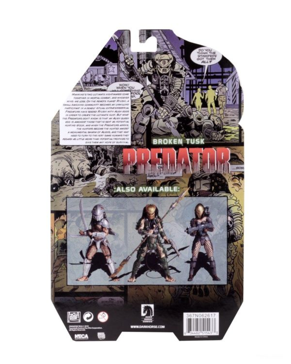 BROKEN TUSK PREDATOR FIGURINE PREDATOR SERIES 18 NECA 20 CM (8) 634482515433 kingdom-figurine.fr