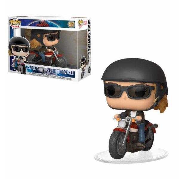 CAROL DANVERS ON MOTORCYCLE FIGURINE CAPTAIN MARVEL POP RIDES 57 FUNKO 889698363792 kingdom-figurine.fr