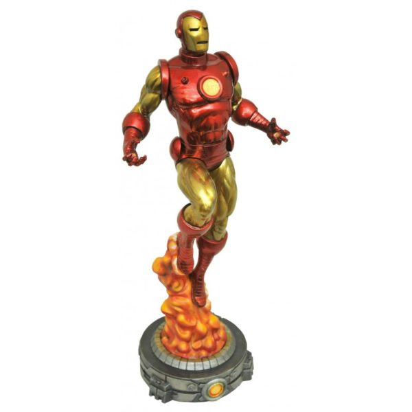 CLASSIC IRON MAN STATUE MARVEL GALLERY DIAMOND SELECT TOYS 28 CM (1) 699788814789 kingdom-figurine.fr
