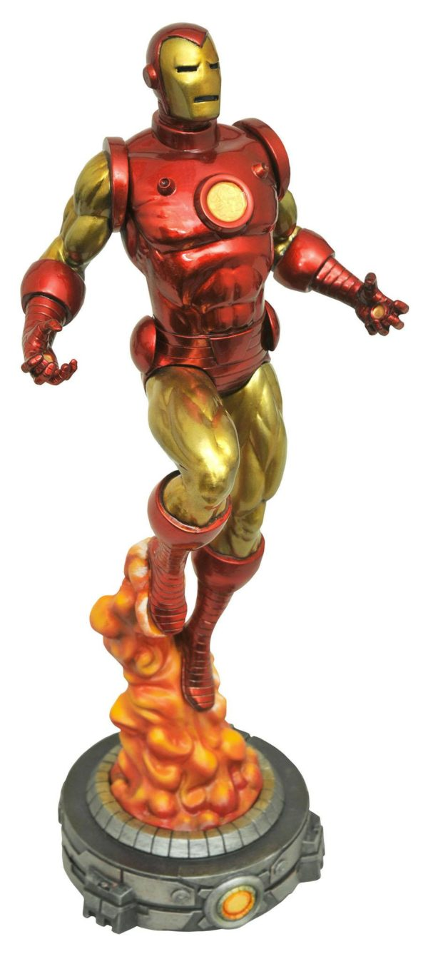 CLASSIC IRON MAN STATUE MARVEL GALLERY DIAMOND SELECT TOYS 28 CM (1bis) 699788814789 kingdom-figurine.fr