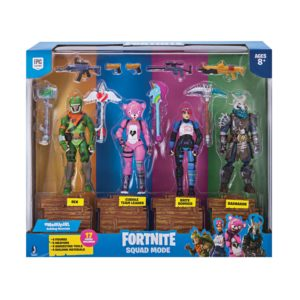 FORTNITE PACK 4 FIGURINES SQUAD MODE JAZWARES 10 CM (2) 191726006237 kingdom-figurine.fr