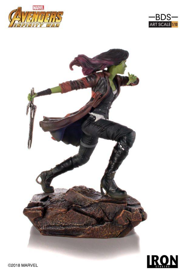 GAMORA STATUE AVENGERS INFINITY WAR IRON STUDIOS 18 CM (2) 751320773456 kingdom-figurine.fr
