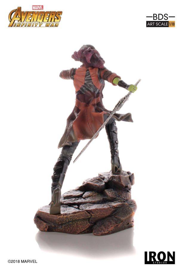 GAMORA STATUE AVENGERS INFINITY WAR IRON STUDIOS 18 CM (3) 751320773456 kingdom-figurine.fr