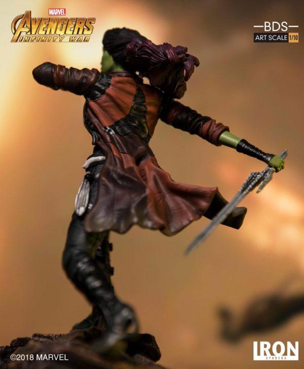 GAMORA STATUE AVENGERS INFINITY WAR IRON STUDIOS 18 CM (5) 751320773456 kingdom-figurine.fr