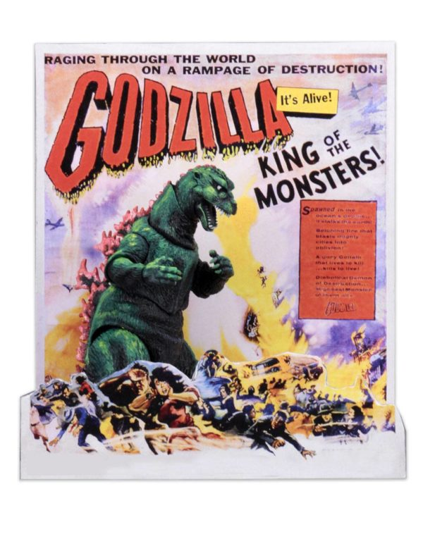 GODZILLA FIGURINE HEAD TO TAIL 1956 GODZILLA US MOVIE POSTER VERSION NECA 30 CM (4) 634482428863 kingdom-figurine.fr