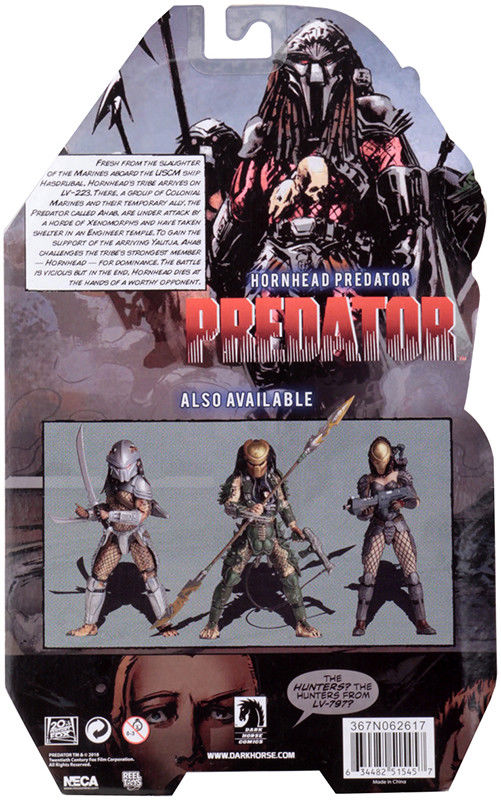 HORNEAD PREDATOR FIGURINE PREDATOR SERIES 18 NECA 20 CM (7) 634482515457 kingdom-figurine.fr
