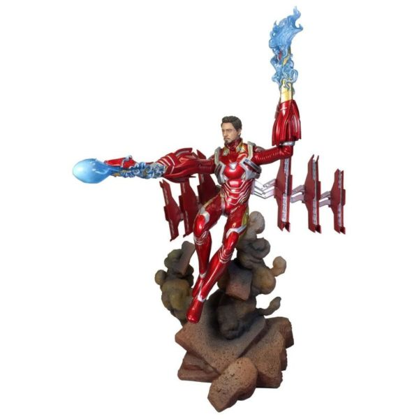 IRON MAN MK50 UNMASQUED STATUE AVENGERS INFINTY WAR MARVEL MOVIE GALLERY DIAMON SELECT TOYS 23 CM (1) 699788830567 kingdom-figurine.fr