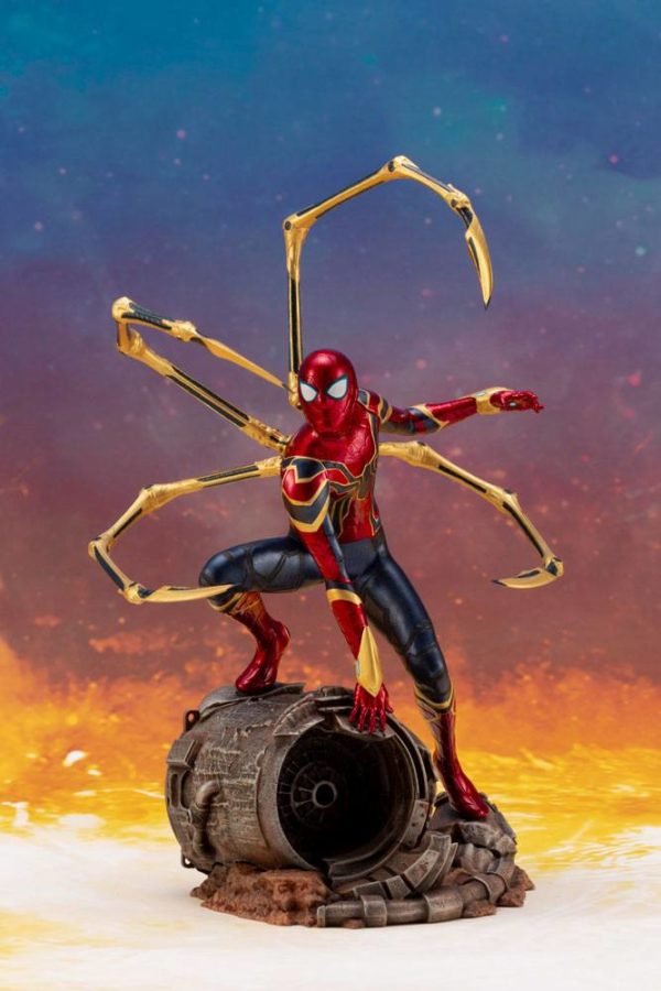 IRON SPIDER STATUE ARTFX+ 1-10 AVENGERS INFINITY WAR KOTOBUKIYA 28 CM (8) 4934054007134 kingdom-figurine.fr
