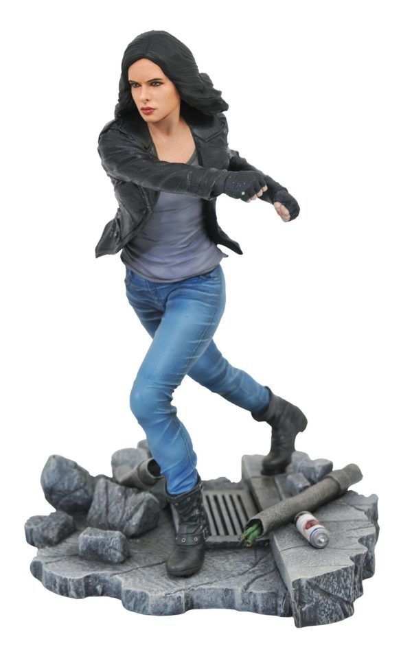 JESSICA JONES STATUE NETFLIX DEFENDERS MARVEL TV GALLERY DIAMOND SELECT TOYS 23 CM (1bis) 699788826577 kingdom-figurine.fr