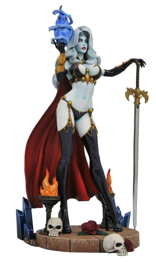 LADY DEATH IV STATUE FEMME FATALES DIAMOND SELECT TOYS 23 CM (1bis) 699788832981 kingdom-figurine.fr