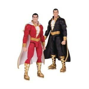 SHAZAM & BLACK ADAM PACK 2 FIGURINES DC ESSENTIALS DC COLLECTIBLES 18 CM (1) 761941355337 kingdom-figurine.fr