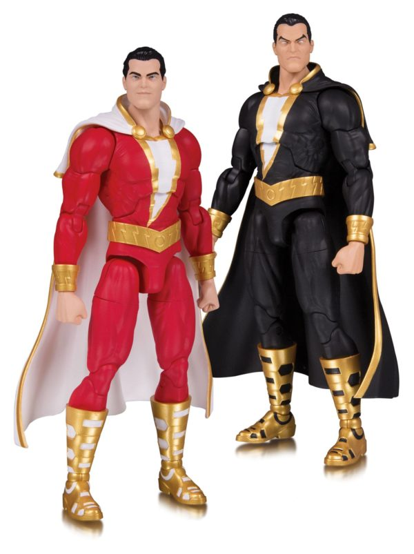 SHAZAM & BLACK ADAM PACK 2 FIGURINES DC ESSENTIALS DC COLLECTIBLES 18 CM (1bis) 761941355337 kingdom-figurine.fr