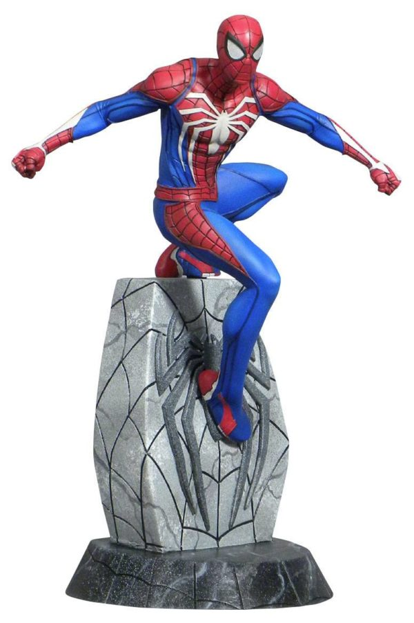SPIDER-MAN STATUETTE MARVEL VIDEO GAMES GALLERY DIAMOND SELECT TOYS 25 CM (1bis) 699788834046 kingdom-figurine.fr