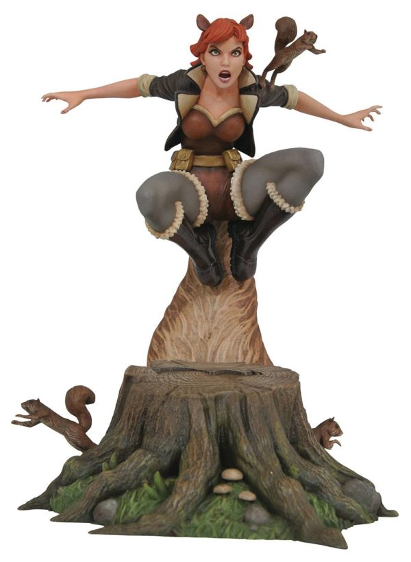SQUIRELL GIRL STATUE MARVEL COMIC GALLERY DIAMOND SELECT TOYS 25 CM (1bis) 699788825662 kingdom-figurine.fr