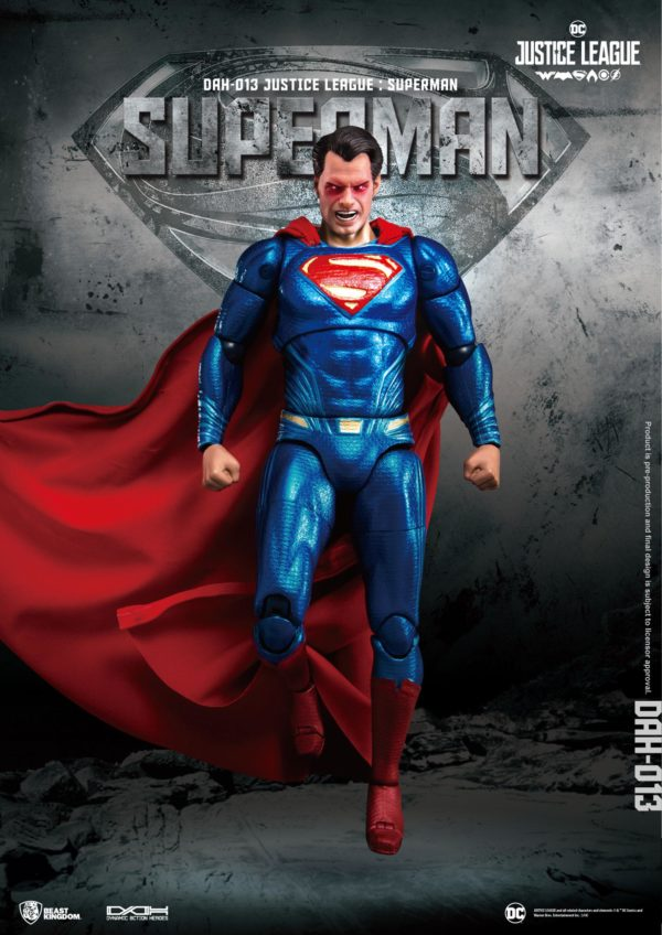SUPERMAN FIGURINE JUSTICE LEAGUE DYNAMIC ACTION HEROES BEAST KINGDOM TOYS 20 CM (1) 4713319859448 kingdom-figurine.fr