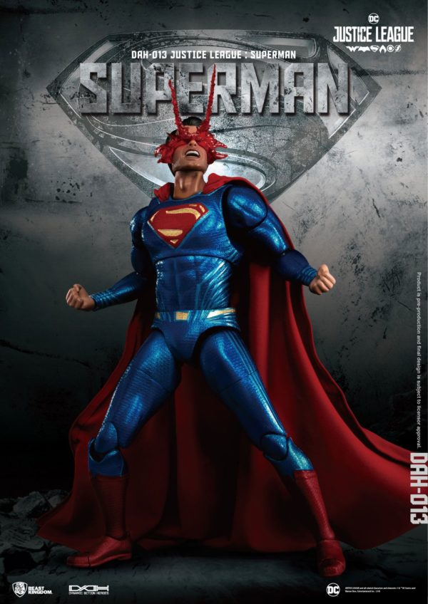 SUPERMAN FIGURINE JUSTICE LEAGUE DYNAMIC ACTION HEROES BEAST KINGDOM TOYS 20 CM (2) 4713319859448 kingdom-figurine.fr