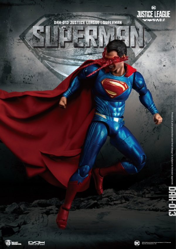 SUPERMAN FIGURINE JUSTICE LEAGUE DYNAMIC ACTION HEROES BEAST KINGDOM TOYS 20 CM (3) 4713319859448 kingdom-figurine.fr