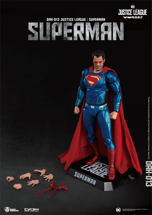 SUPERMAN FIGURINE JUSTICE LEAGUE DYNAMIC ACTION HEROES BEAST KINGDOM TOYS 20 CM (5) 4713319859448 kingdom-figurine.fr