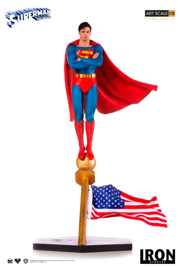 SUPERMAN THE MOVIE 1978 STATUE 1-10 DELUXE ART SCALE DC COMICS IRON STUDIOS 35 CM (1bis) 606529302634 kingdom-figurine.fr