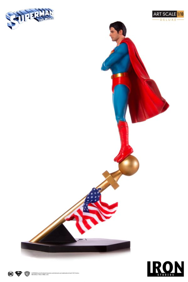 SUPERMAN THE MOVIE 1978 STATUE 1-10 DELUXE ART SCALE DC COMICS IRON STUDIOS 35 CM (4) 606529302634 kingdom-figurine.fr