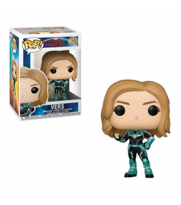 VERS FIGURINE CAPTAIN MARVEL POP 427 FUNKO 889698363426 kingdom-figurine.fr