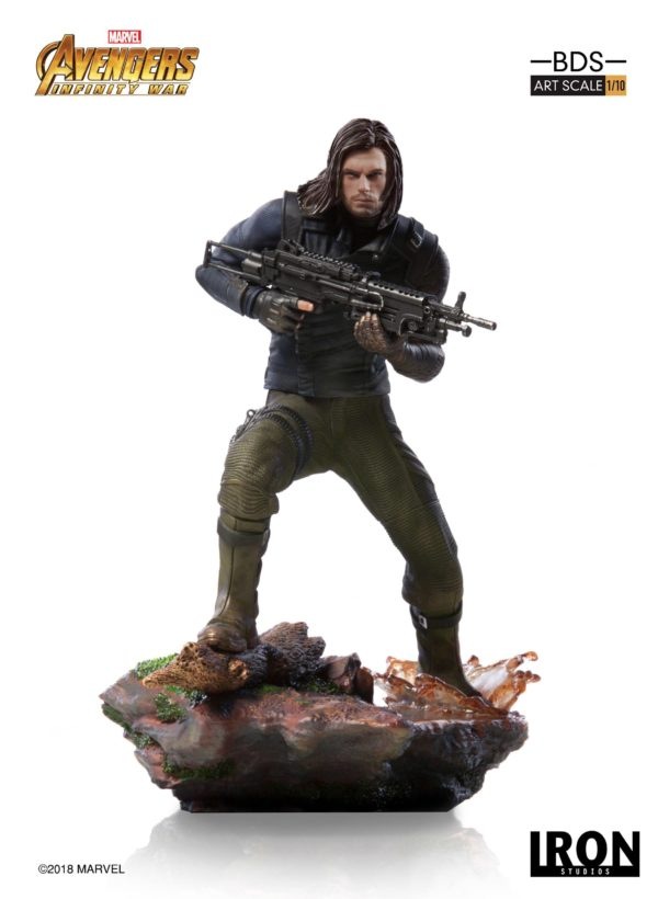 WINTER SOLDIER STATUE AVENGERS INFINITY WAR BDS ART SCALE IRON STUDIOS 20 CM (1bis) 751320773333 kingdom-figurine.fr