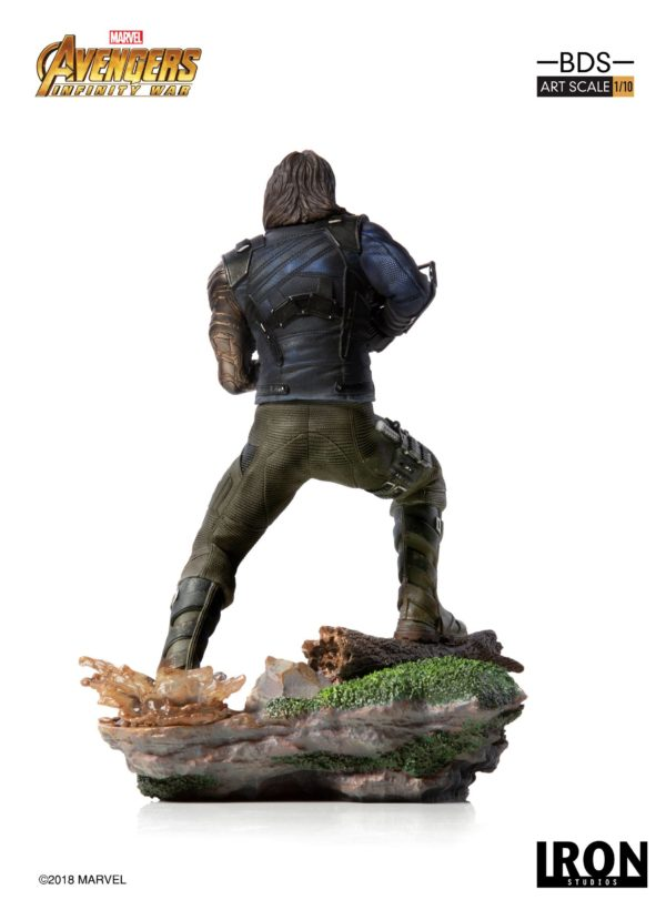 WINTER SOLDIER STATUE AVENGERS INFINITY WAR BDS ART SCALE IRON STUDIOS 20 CM (3) 751320773333 kingdom-figurine.fr