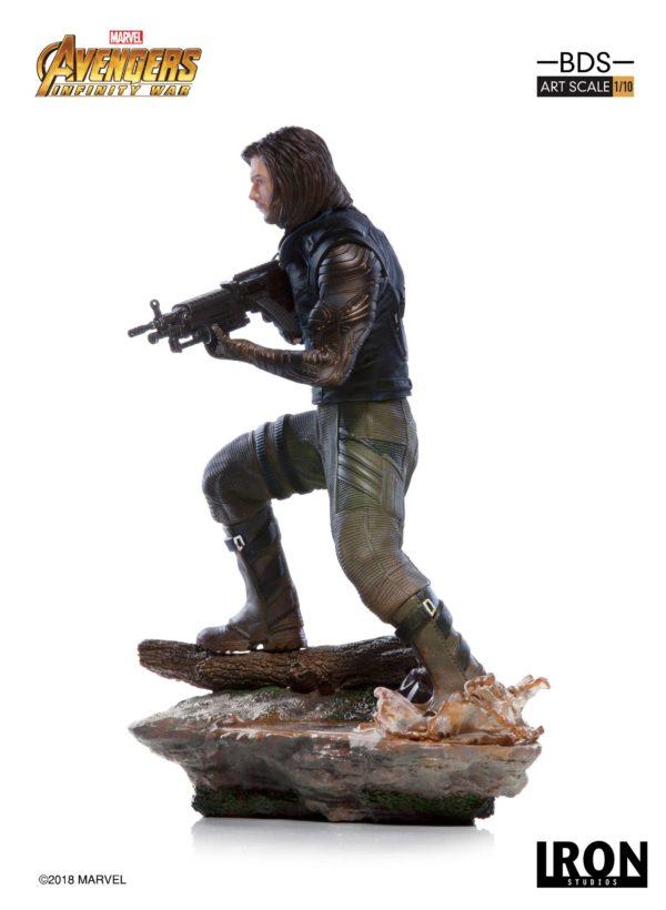 WINTER SOLDIER STATUE AVENGERS INFINITY WAR BDS ART SCALE IRON STUDIOS 20 CM (4) 751320773333 kingdom-figurine.fr