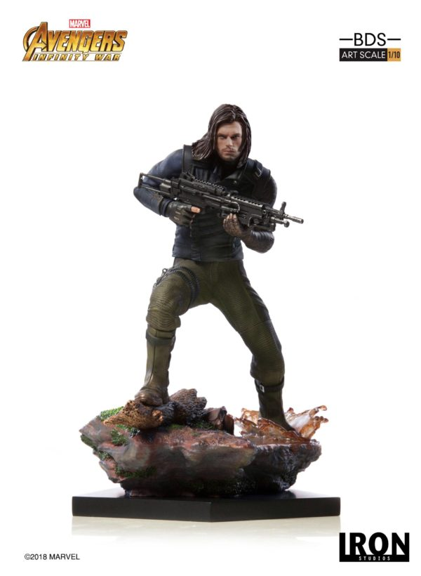 WINTER SOLDIER STATUE AVENGERS INFINITY WAR BDS ART SCALE IRON STUDIOS 20 CM (5) 751320773333 kingdom-figurine.fr