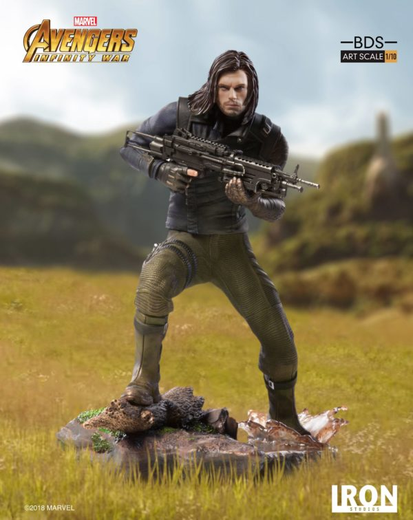 WINTER SOLDIER STATUE AVENGERS INFINITY WAR BDS ART SCALE IRON STUDIOS 20 CM (6) 751320773333 kingdom-figurine.fr