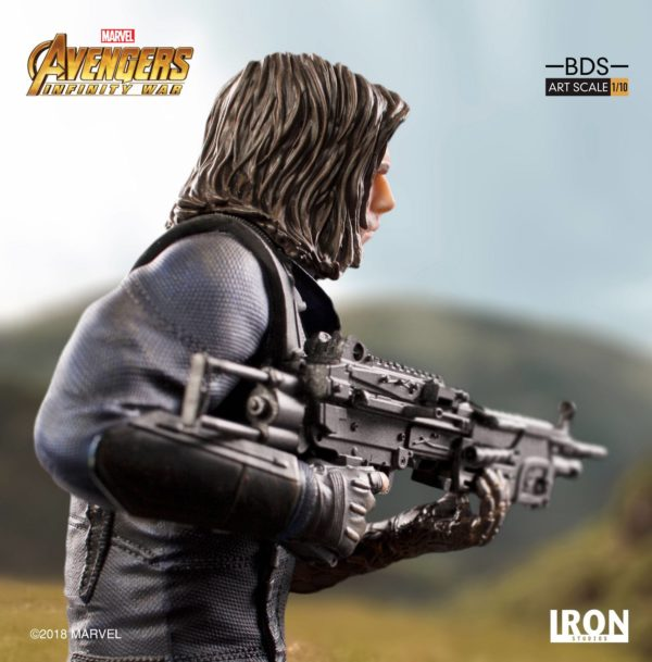 WINTER SOLDIER STATUE AVENGERS INFINITY WAR BDS ART SCALE IRON STUDIOS 20 CM (8) 751320773333 kingdom-figurine.fr