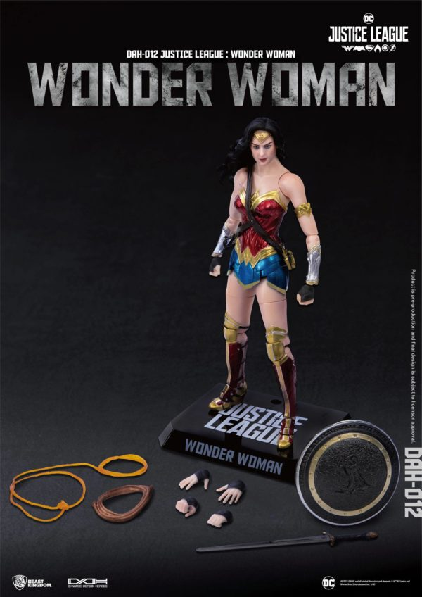 WONDER WOMAN FIGURINE JUSTICE LEAGUE DYNAMIC ACTION HEROES BEAST KINGDOM TOYS 19 CM (4) 4713319859431 kingdom-figurine.fr