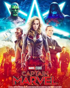 Affiche du film Captain Marvel (mars 2019)