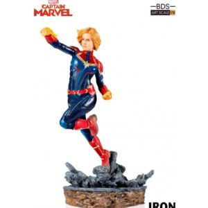 CAPTAIN MARVEL STATUE 1-10 MARVEL COMICS BDS ART SCALE IRON STUDIOS 20 CM (1) 606529302672 kingdom-figurine.fr