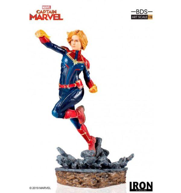 CAPTAIN MARVEL STATUE 1-10 MARVEL COMICS BDS ART SCALE IRON STUDIOS 20 CM (1) 606529302672 kingdom-figurine.fr