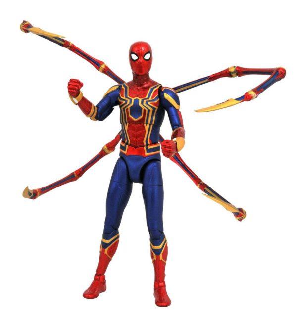 IRON SPIDER-MAN FIGURINE AVENGERS INFINITY WAR MARVEL SELECT 18 CM (1bis) 699788829738 kingdom-figurine.fr