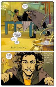 Premières pages du comics Saga