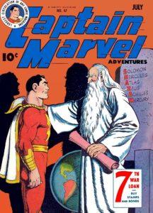 Shazam couverture de comics