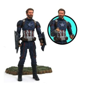 CAPTAIN AMERICA FIGURINE AVENGERS INFINITY WAR MARVEL SELECT DIAMOND SELECT TOYS 18 CM (1bis) 699788829752 kingdom-figurine.fr